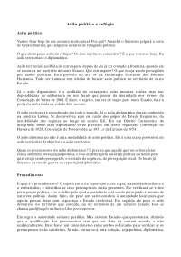 Asilo Político e Refúgio - Apostilas - Direito Internacional Público