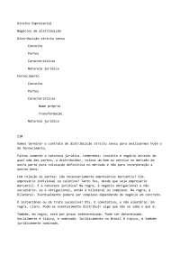 Contrato de Fornecimento - Apostilas - Direito Empresarial