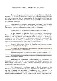 Direito de Família e Direito das Sucessões - Apostilas - Direito Internacional Privado