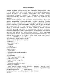 Lampa Bioptron - Notatki - Kosmetologia