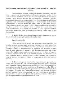 Cooperação jurídica internacional Carta Rogatória e Auxílio Direto - Apostilas - Direito Internacional Privado