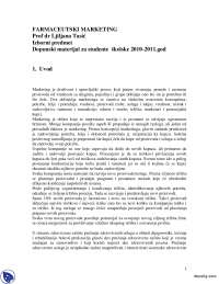 Stratesko marketing planiranje-Beleska-Slajdovi-Farmaceutski marketing-Farmacija