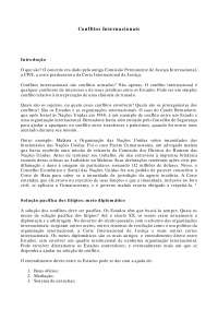 Conflitos Internacionais - Apostilas - Direito Internacional Público