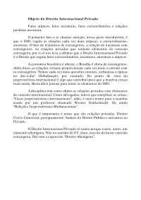 Objeto do Direito Internacional Privado - Apostilas - Direito Internacional Privado
