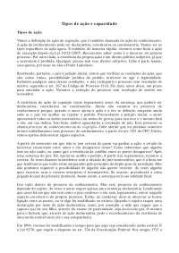 Tipos de ação e capacidade - Apostilas - Direito Processual Civil