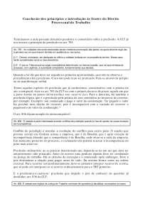Conclusão dos Princípios e Fontes do Direito Processual do Trabalho - Apostilas - Direito Processual do Trabalho