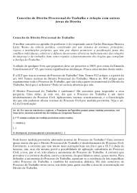 Direito Processual do Trabalho e Relação com outras áreas do Direito - Apostilas - Direito Processual do Trabalho