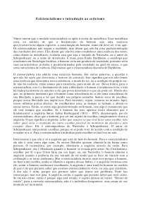 Existencialismo e introdução ao ceticismo - Apostilas - Filosofia do Direito