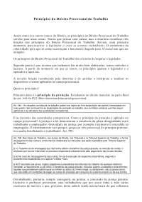 Princípios do Direito Processual do Trabalho - Apostilas - Direito Processual do Trabalho