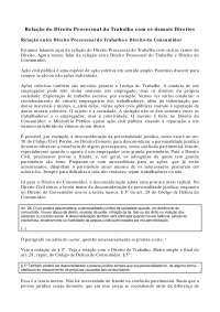 Relação do Direito Processual do Trabalho com os demais Direitos - Apostilas - Direito Processual do Trabalho