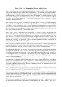 Roma e Marco Túlio Cícero - Apostilas - Filosofia do Direito