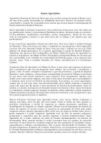 Santo Agostinho I - Apostilas - Filosofia do Direito