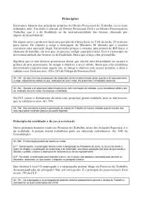 Princípios - Apostilas - Direito Processual do Trabalho