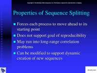 Properties of Sequence Splitting-Slajdovi-Paralelno programiranje-Informatika