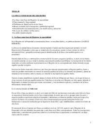 La finca como base del registro - Apuntes - Derecho