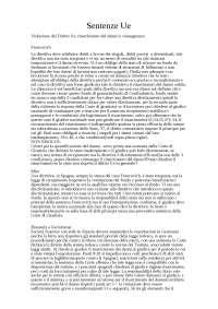 Esercitazioni 24 sentenze Diritto unione europea