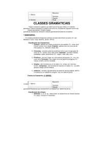 Classes Gramaticais - Apostilas - Português