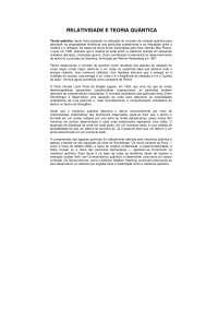 Relatividade e Teoria Quântica - Apostilas - Física