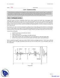 Seismotectonics Two - Seismology - Lab Notes