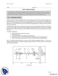 Seismotectonics - Seismology - Lab Notes