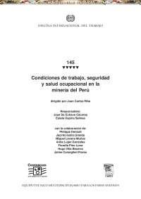 curso - condiciones - trabajo - seguridad - salud - mineria - peru, Notas de estudo de Cultura