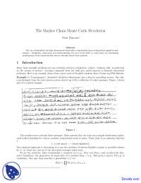 The Markov Chain - Water Management - Lecture Notes
