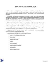 BIBLIOGRAFSKO CITIRANJE-Beleska-Filologija