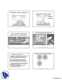 Atmospheric Lifting - Geography - Lecture Slides