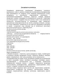 Zarządzanie produkcja - Notatki - Zarządzanie produkcją