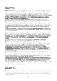 Diritto del lavoro - Diritto sindacale - appunti e riassunti