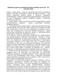 Wdrażanie systemu zarządzania jakością według normy PN   EN  - Notatki - Zarządzanie jakością