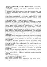 Zarzadzanie produkcją i usługami  - Notatki - Zarządzanie produkcją