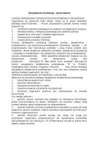 Zarządzanie produkcją  - Notatki - Zarządzanie produkcją