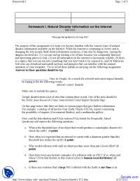 Natural Disaster Information - Environmental Geology - Assignment