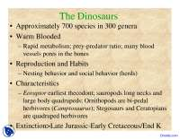 Dinosaurs - Environmental Geology - Lecture Slides