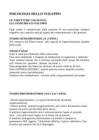 Gli stadi dello sviluppo - Descrizione - Università di Napoli Federico II