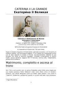 Tesina su Caterina II la Grande - cultura russa