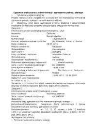 Zgłoszenie pobytu stałego - Notatki - Administracja