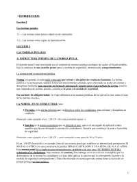 Normas Penales - Apuntes - Derecho Penal