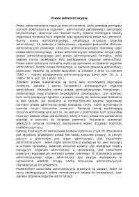 Prawo administracyjne - Notatki - Administracja