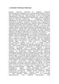 Biuletyn Informacji Publicznej - Notatki - Administracja