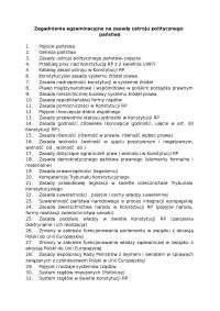 Zasady ustroju politycznego państwa - Notatki - Administracja
