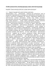 Źródła powszechnie obowiązującego prawa administracyjnego - Notatki - Administracja