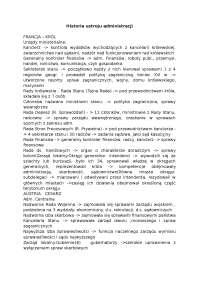 Historia ustroju administracji - Notatki - Administracja