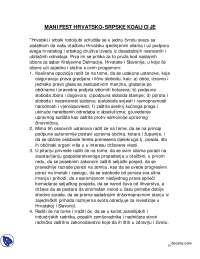 MANIFEST HRVATSKO-Seminarski radovi-Nacionala politika-Pravo