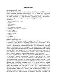 Windows Vista - Notatki - Systemy i sieci