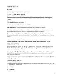 Partes en el Proceso Laboral - Apuntes - Derecho Procesal