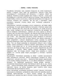 Zalety  i  wady  internetu - Notatki - Systemy i sieci