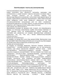 Teleinformatyka i teoria sieci komoputerowej - Notatki - Systemy i sieci