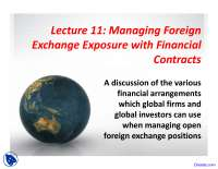 Managing Foreign - Asset Managment - Lecture Slides